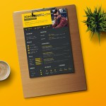 Black Yellow Resume