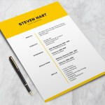 Yellow Elegant Resume