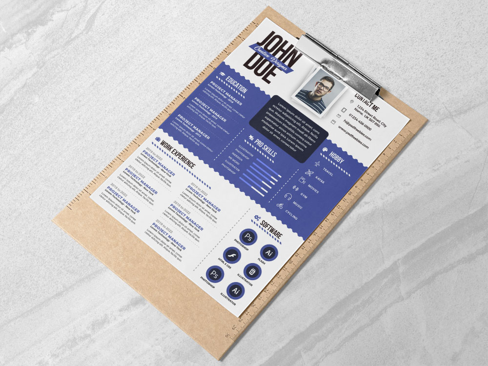 Free Graphic Designer Resume Template In Psd Fileformat