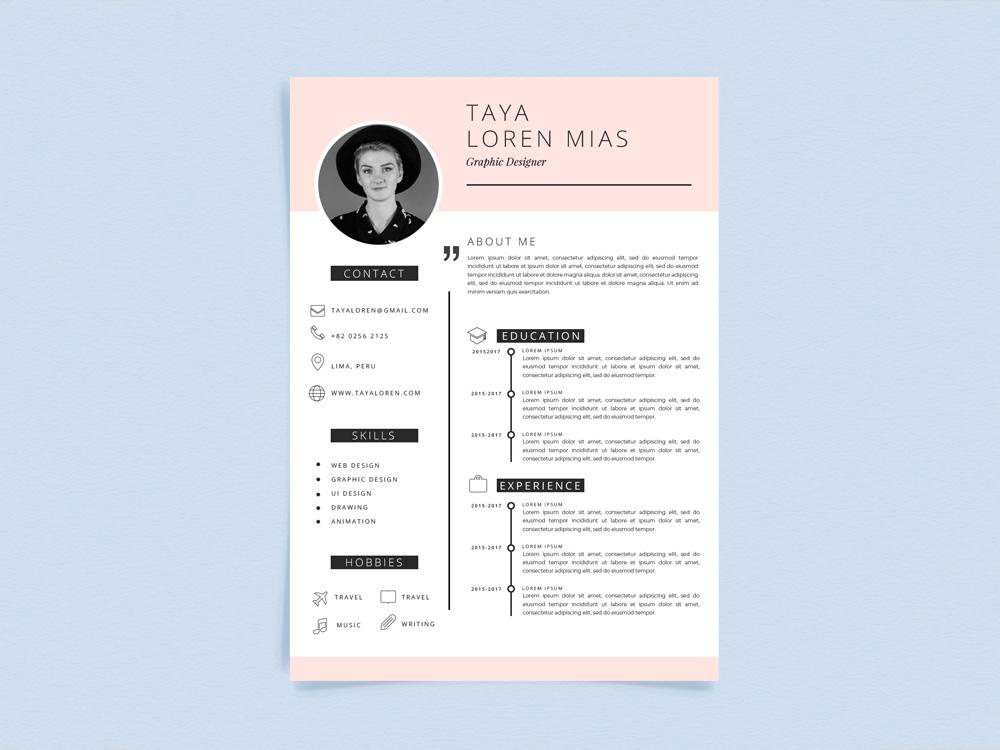 Loren Template Free Curriculum Vitae Template With Minimalist Style