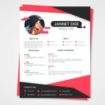Pink and Black Resume