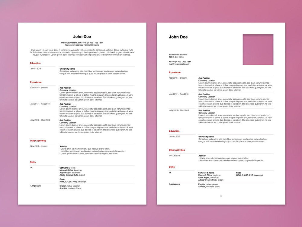 Free Apple Pages Resume Template With Minimalist Design For Your Next Job Opportunity A Simple Layout Professionals In Any Industry