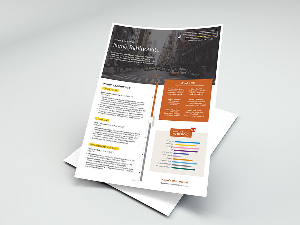 Free Creative Indesign CV Template With Elegant Look