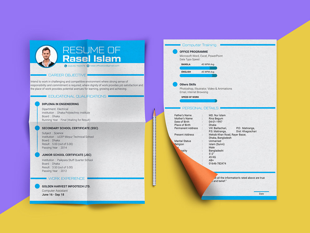 Free Engineering Resume Template with Simple and Clean Design