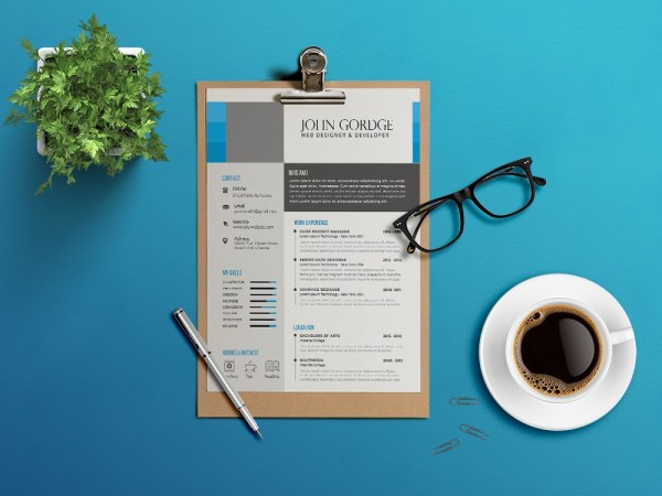 Free Clean and Modern Curriculum Vitae Resume Template for Any Job Seeker