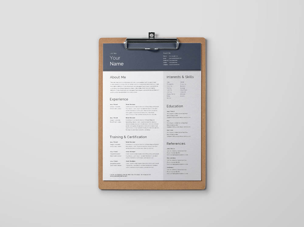 Free General Resume Template for any Job Opportunity