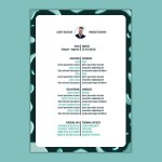 Line Resume Template