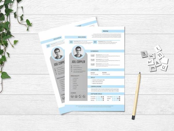 Free Clean General Resume Template in Elegant Design