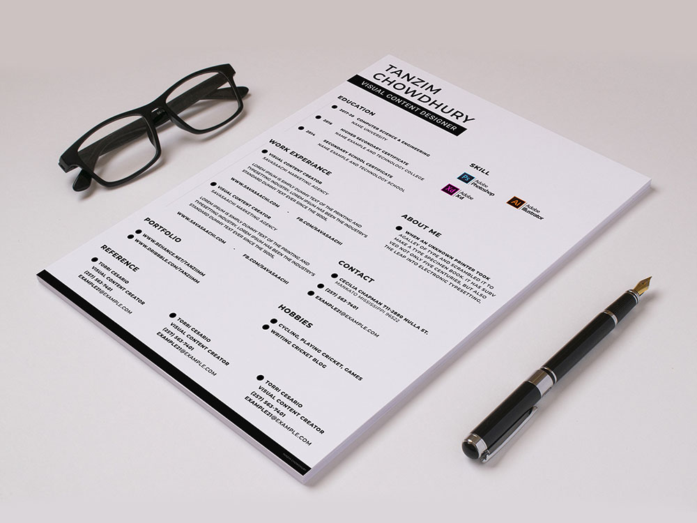 Free Content Creator Resume Template