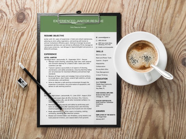 Free Janitor Resume Template