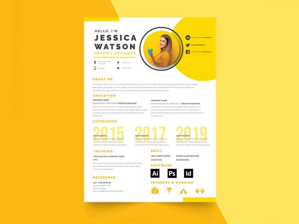 Yellow Resume Template