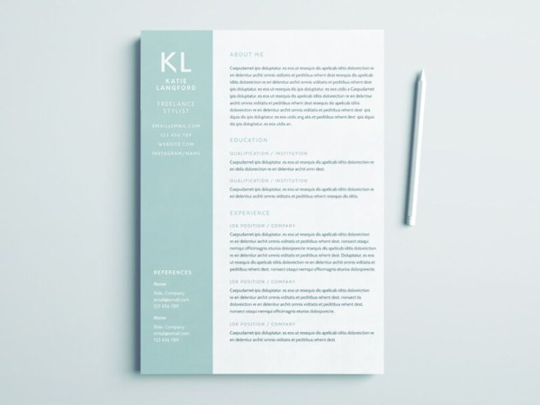 Free Freelance Stylist Resume Template