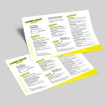 Horizontal Indesign Resume