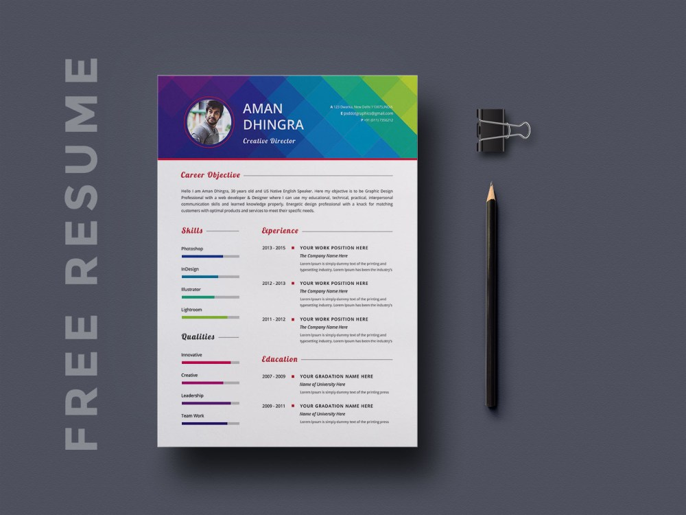 Free Stylish Resume and Cover Letter Template