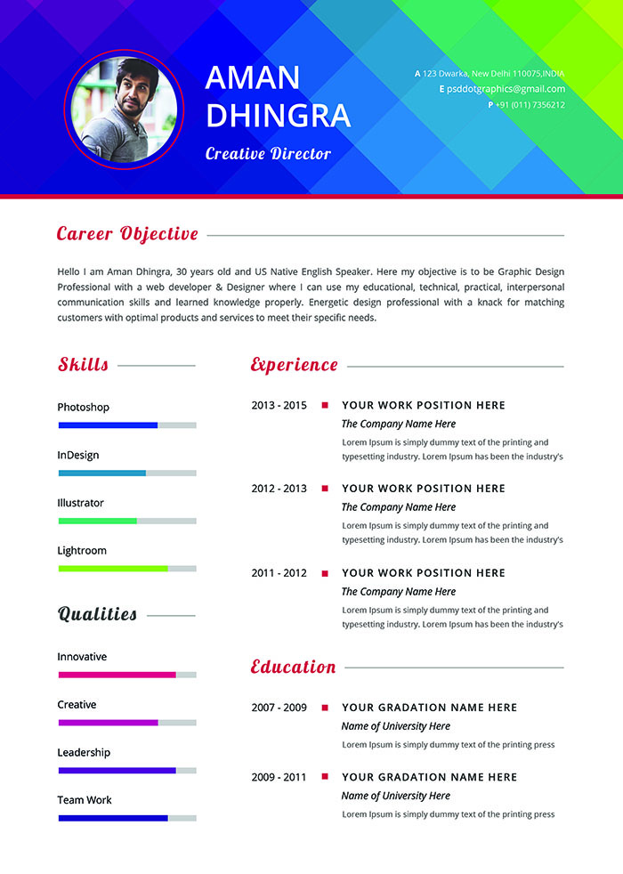 Stylish Resume and Cover Letter Template
