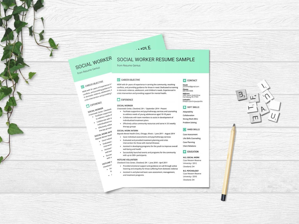 Free Social Worker Resume Template for Non Profit Job Opportunity