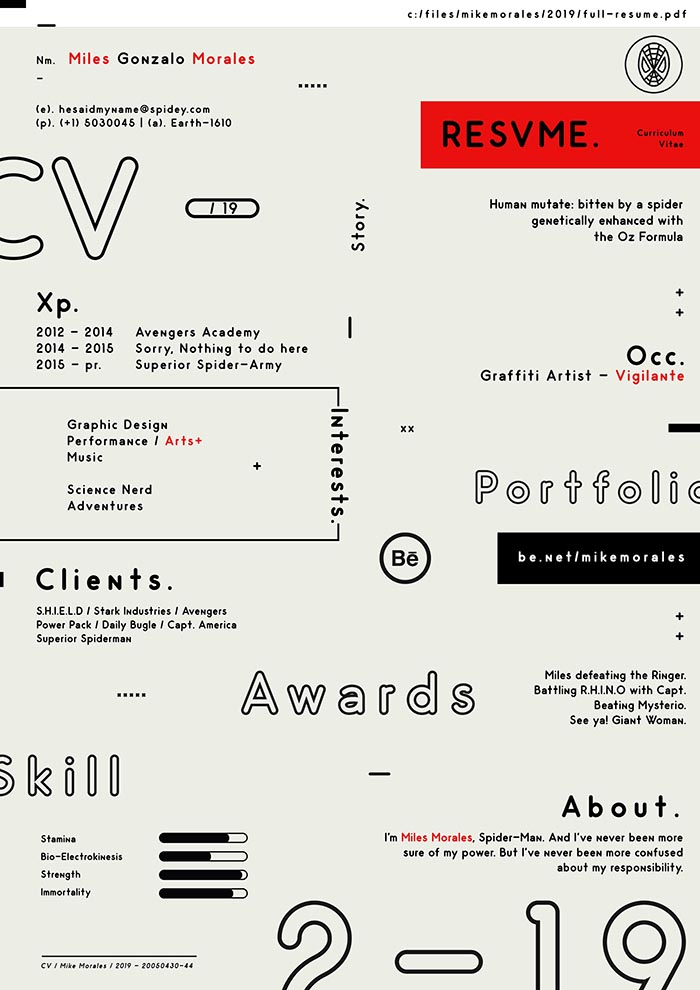 Free Trendy CV Resume Template