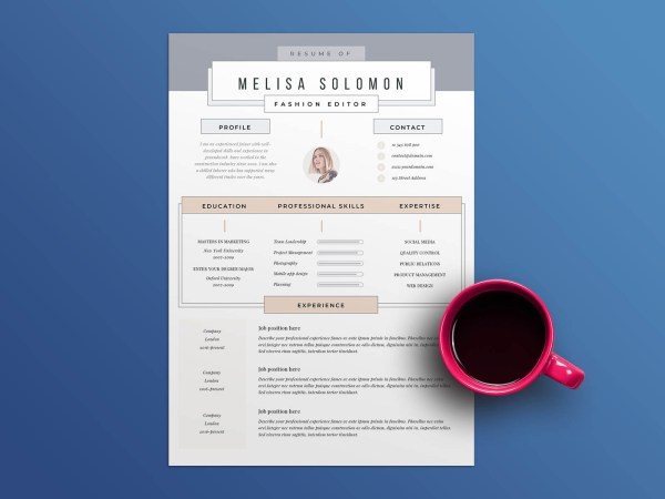 Free Resume Template - Madrid