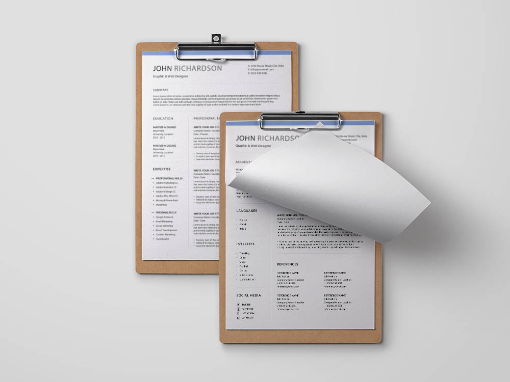 Free 3 Pages Resume Template