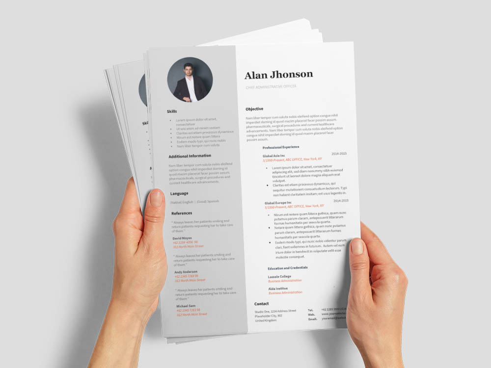Free Chief Administrative Officer Resume Template for Job Seeker