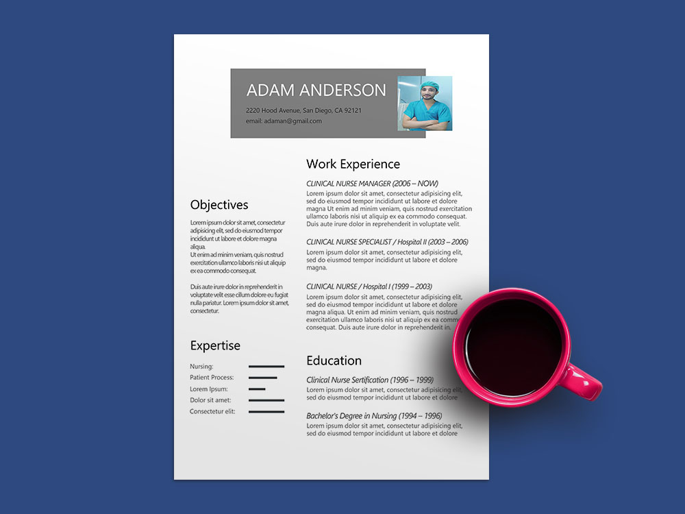 Free Clinical Nurse Resume Template with Sample