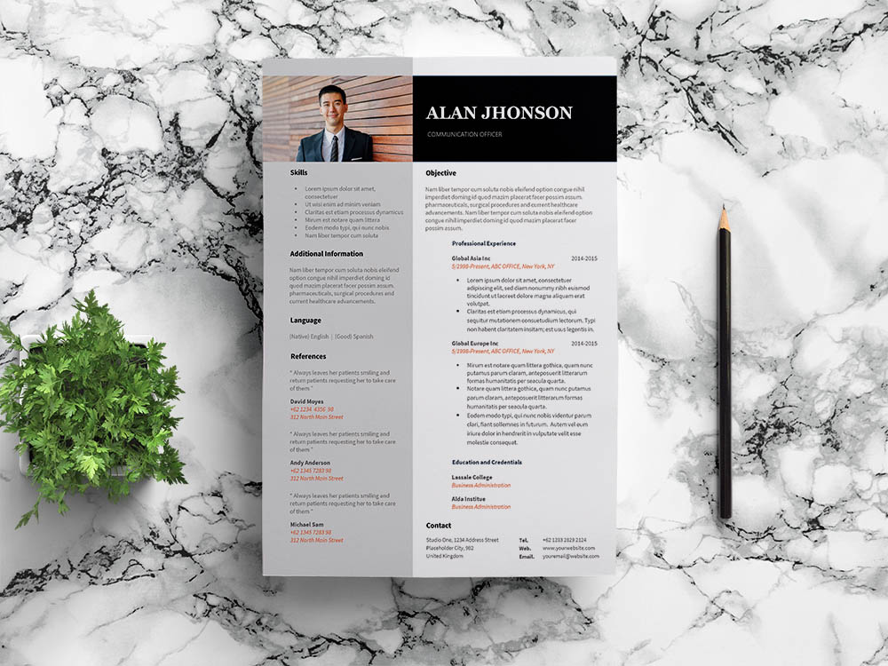 Free Communication Officer Resume Template for Job Seeker