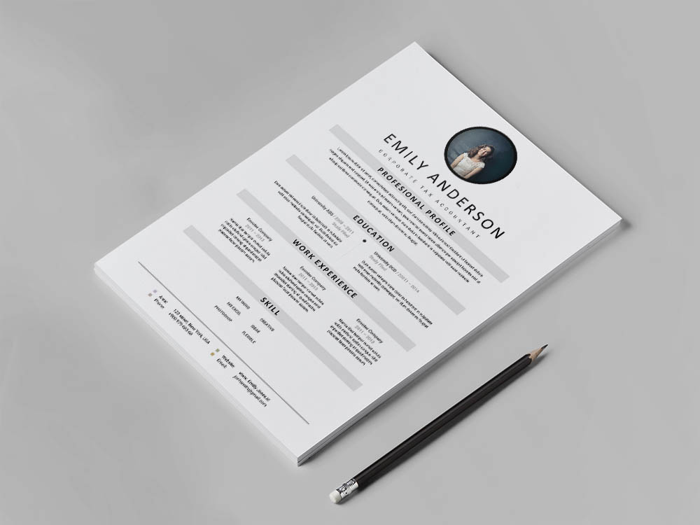 Free Corporate Tax Accountant Resume Template with Simple and Clean Look