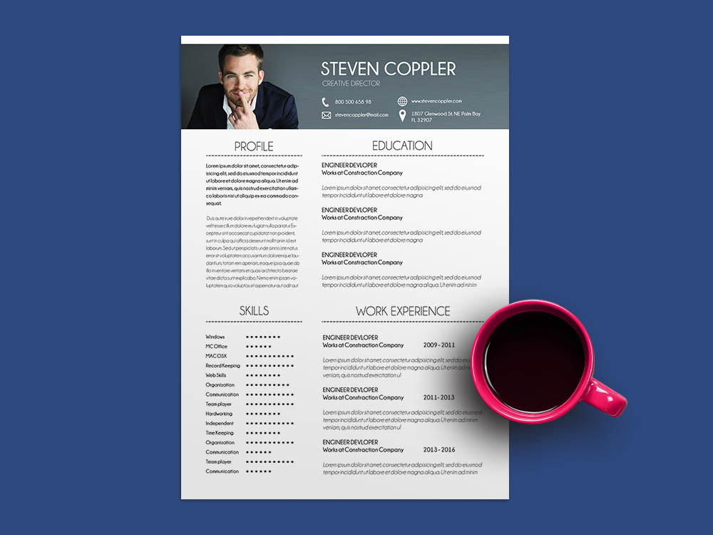 Free Engineer Developer Resume Template