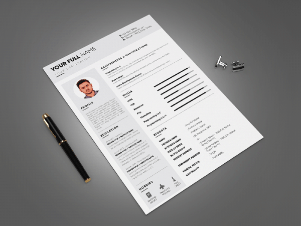 Free Engineering CV/Resume Template with Modern and Professional Look