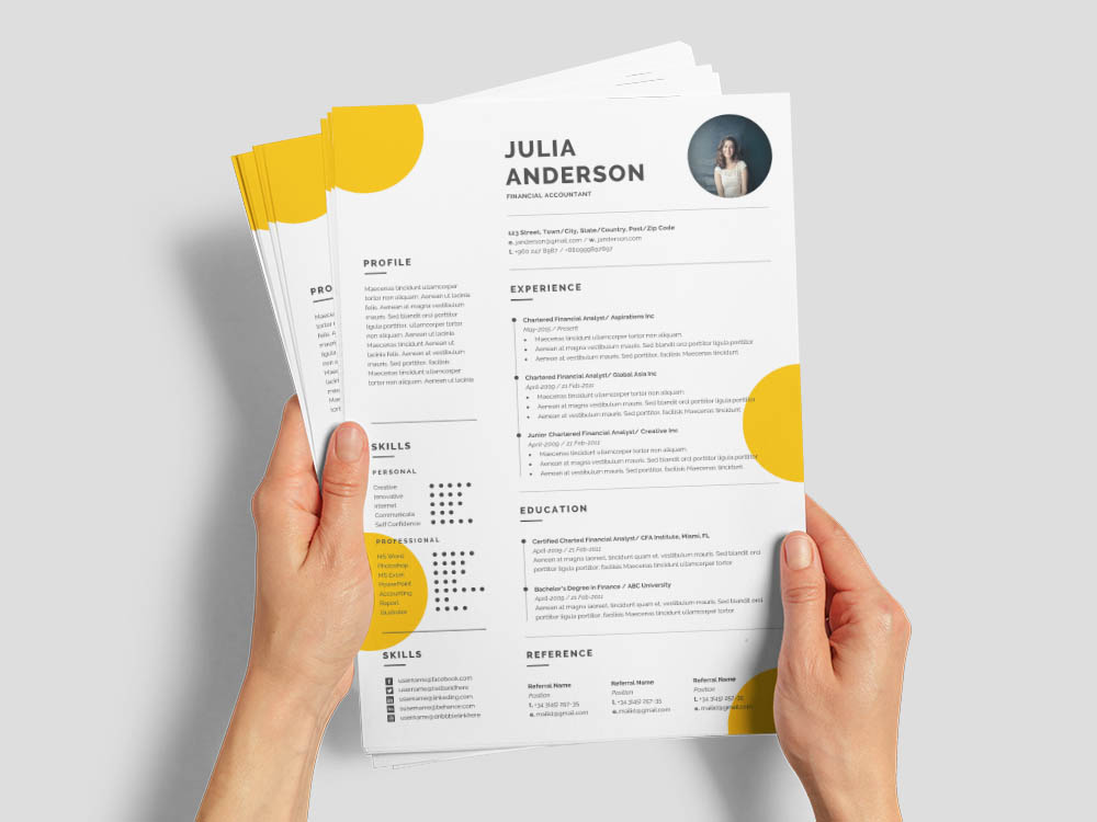 Free Financial Accountant Resume Template with Professional Look
