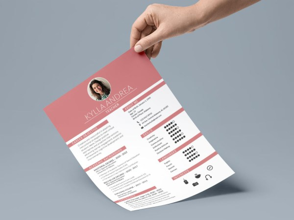 Free Fresher Teacher Resume Template with Sample Text