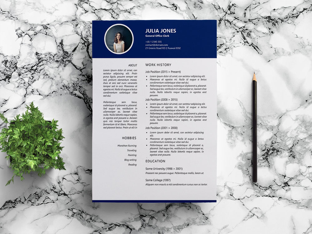 Free General Office Clerk Resume Template for Job Seeker
