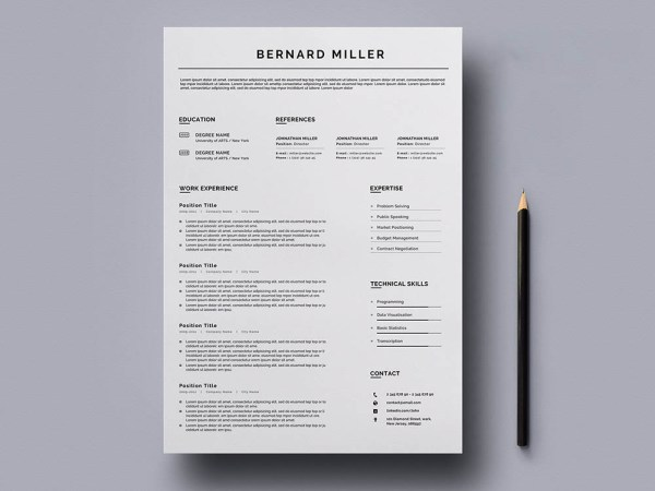 Free General Word Resume Template for Any Job Opportunity