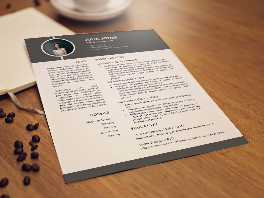 Free Help Desk Supervisor Resume Template for Job Seeker