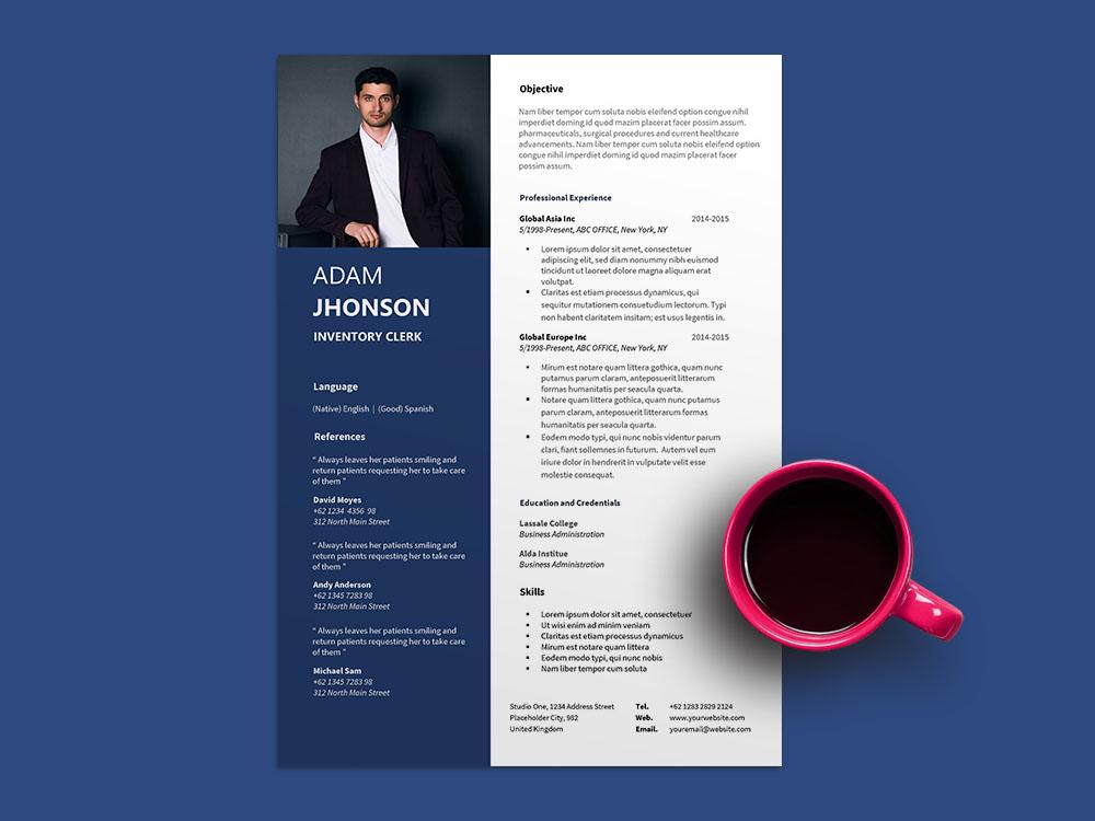 Free Inventory Clerk Resume Template for Job Seeker