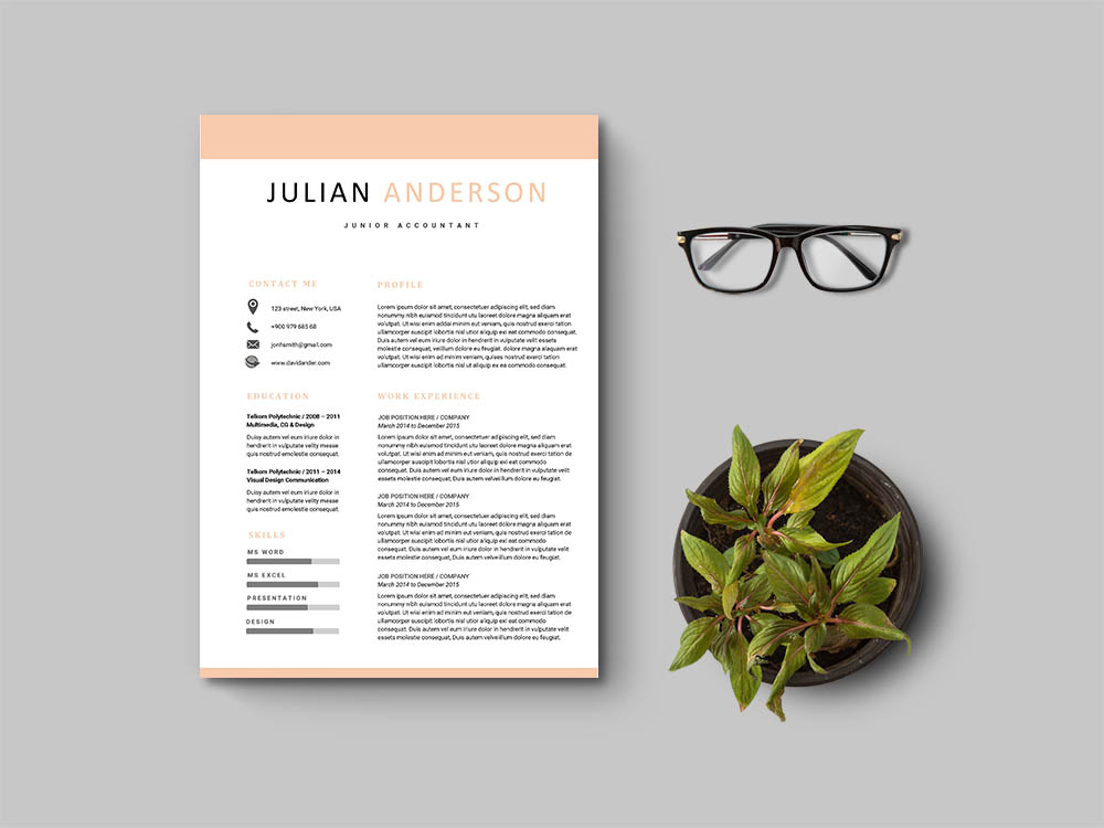 Free Junior Accountant Resume Template