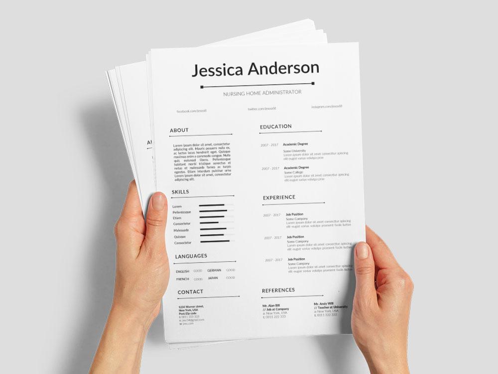Free Nursing Home Administrator Resume Template For Job Seeker