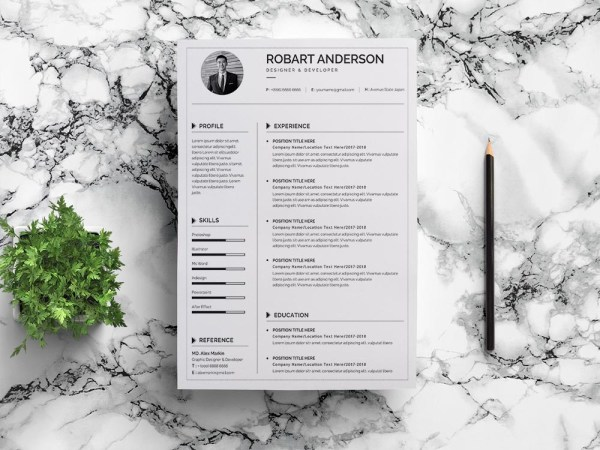 Free Simple Google Docs Resume Template for Job Seeker