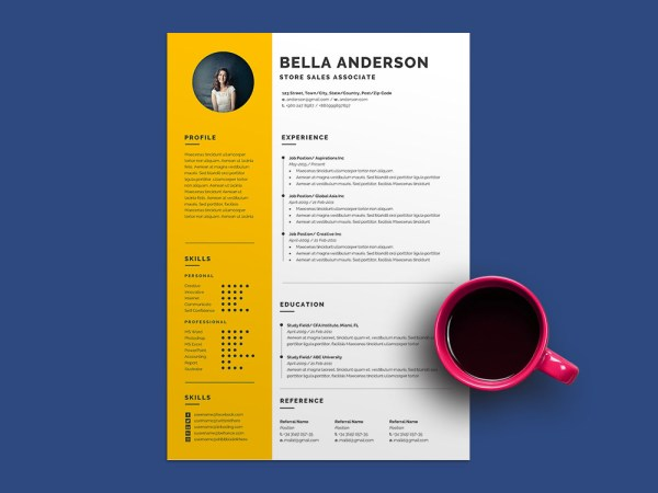 Free Store Sales Associate Resume Template for Job Seeker