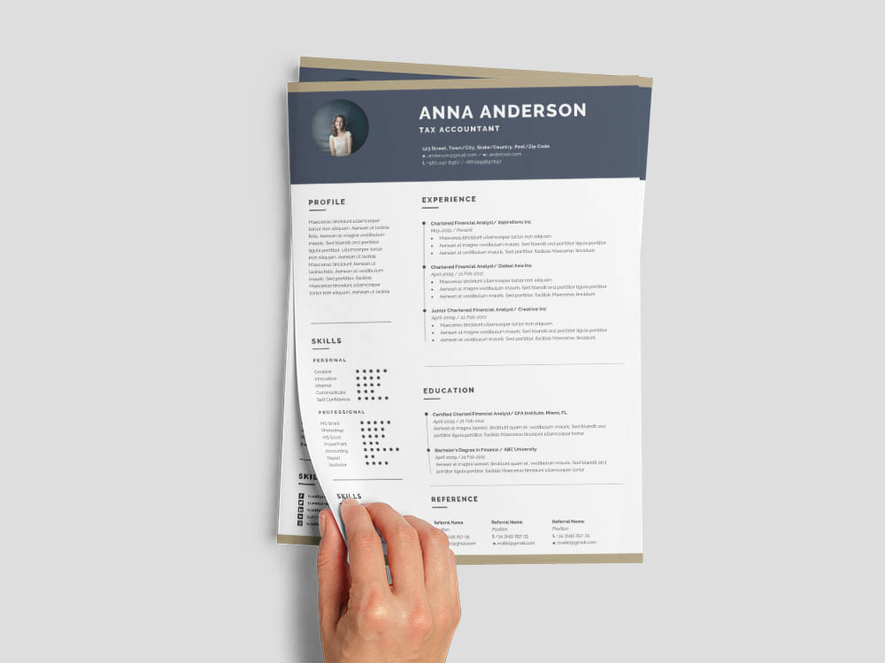 Free Tax Accountant Resume Template