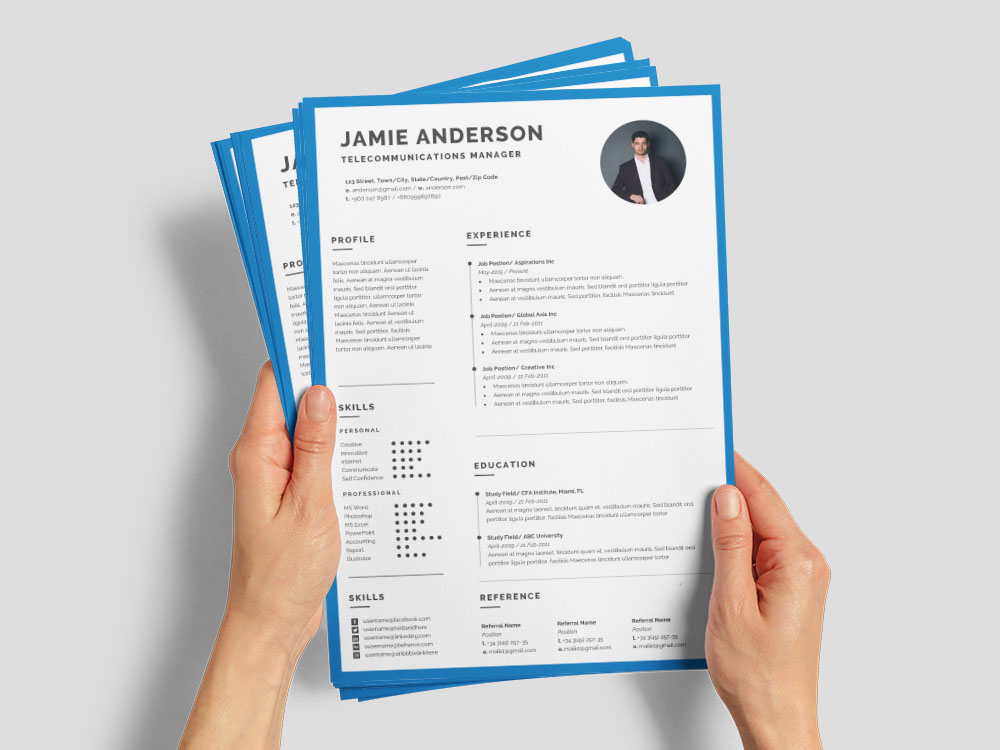 free telecommunications manager resume template for job seeker