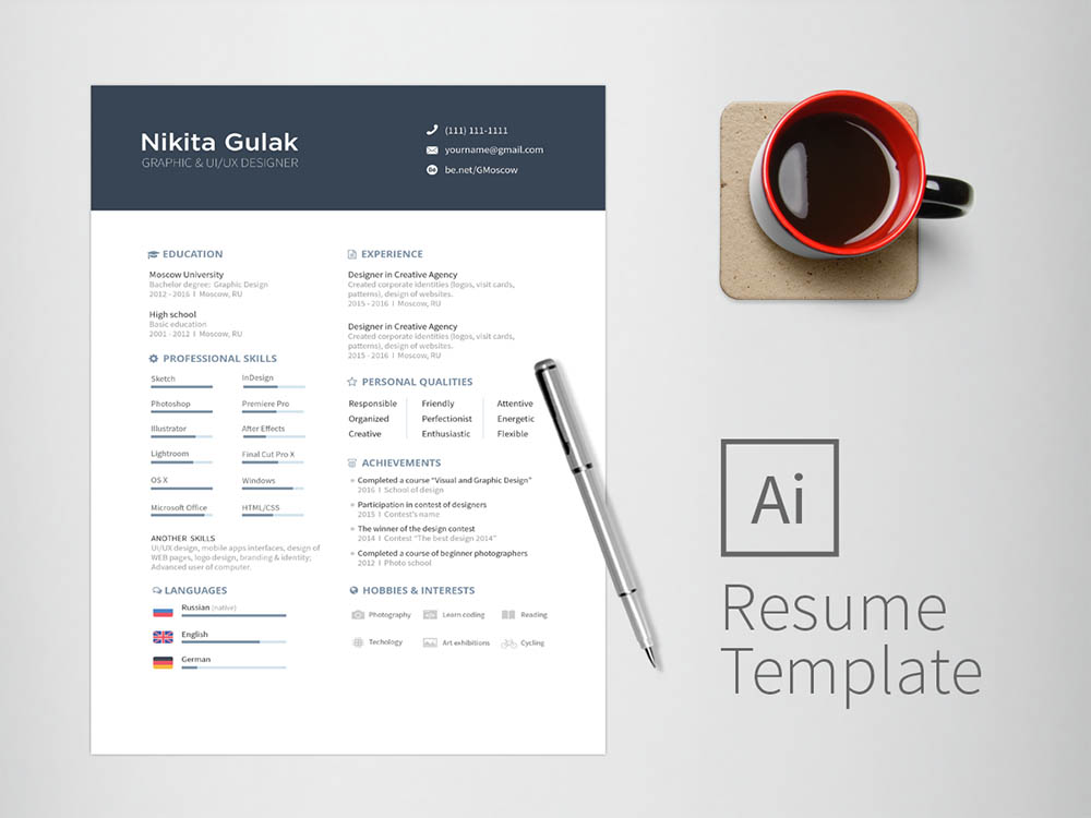 Free Universal Illustrator Resume for Any Job Opportunity