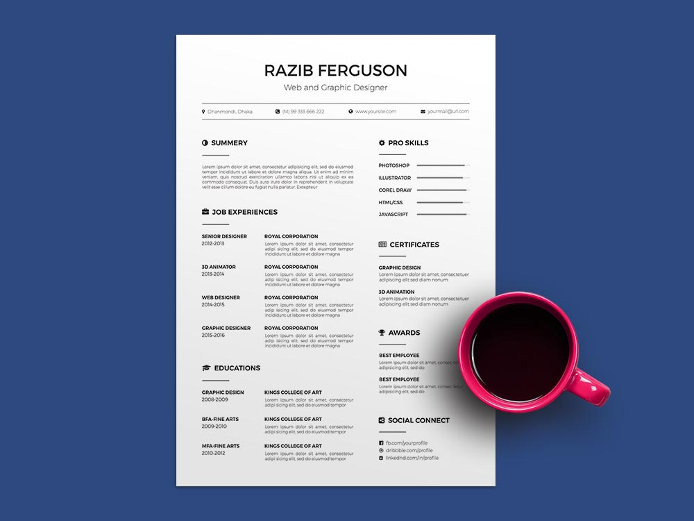 Free Two Pages Google Docs Resume Template For Any Job Opportunity