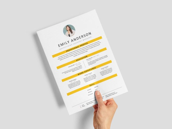 Free Advertising Account Manager Resume Template for Job Seeker