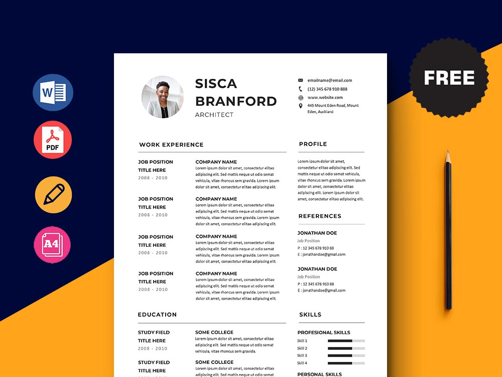 Free Architect Resume Template