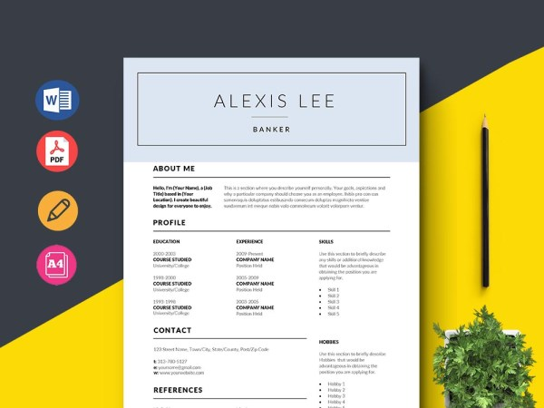 Free Banker Resume Template
