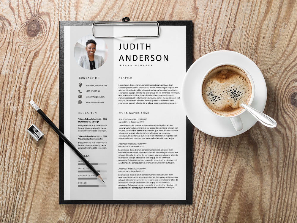 Free Brand Manager Resume Template for with Clean and Professional Look