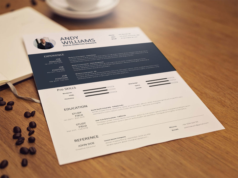 Free Digital Marketing Manager Resume Template for Job Seeker