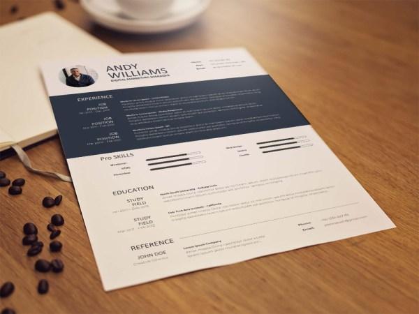 Free Digital Marketing Manager Resume Template for Job Seeker
