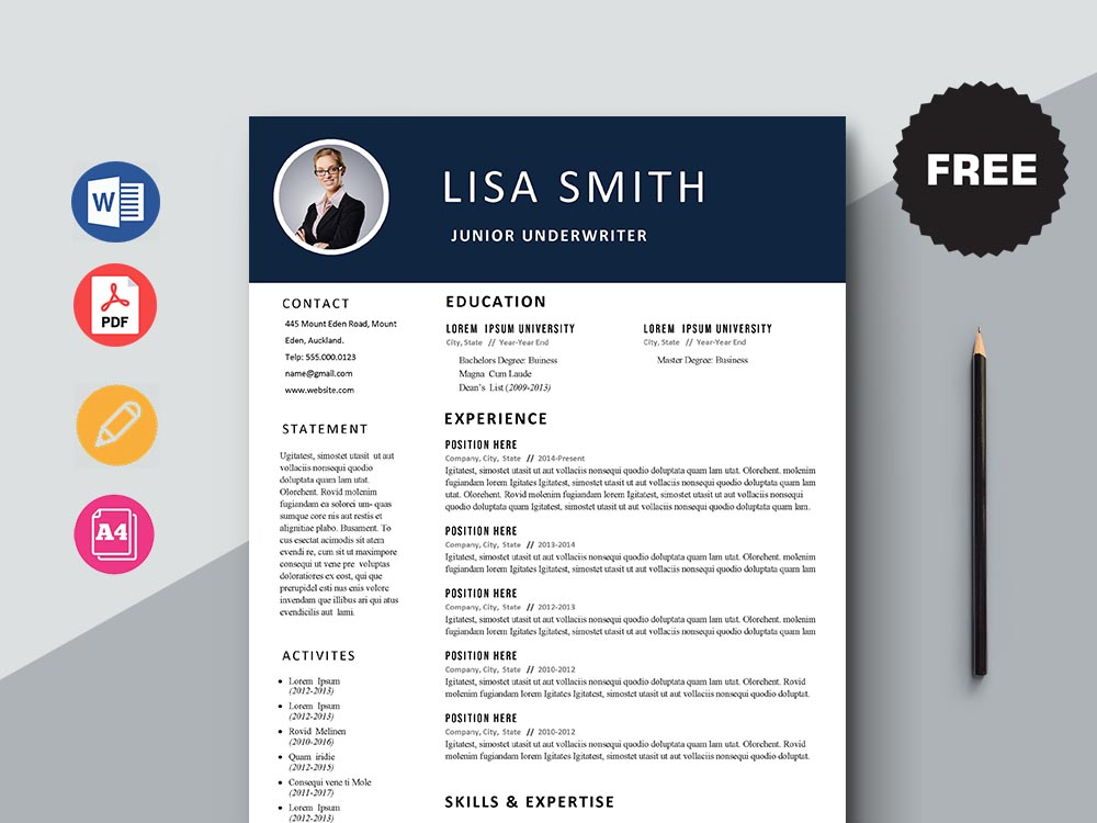 Free Junior Underwriter Resume Template